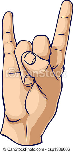 Bull Horn hand gesture - csp1336006