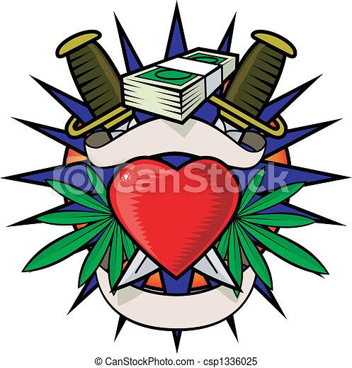 Drug tattoo - csp1336025