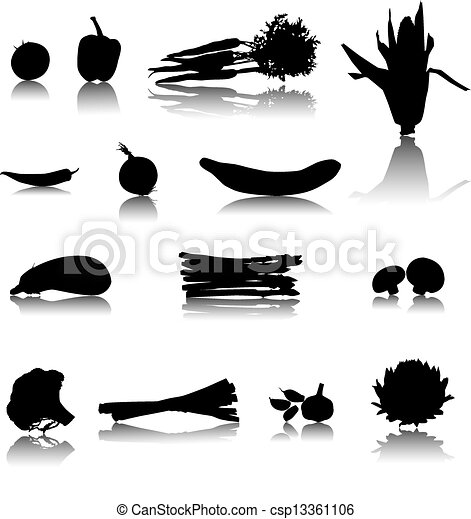 Set of Vector Vegetables - csp13361106