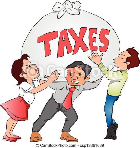 Vecteurs de lourd, tax., femme affaires, sac, vecteur ...