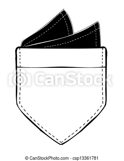 Vector of Pocket with Pocket Square - csp13361781