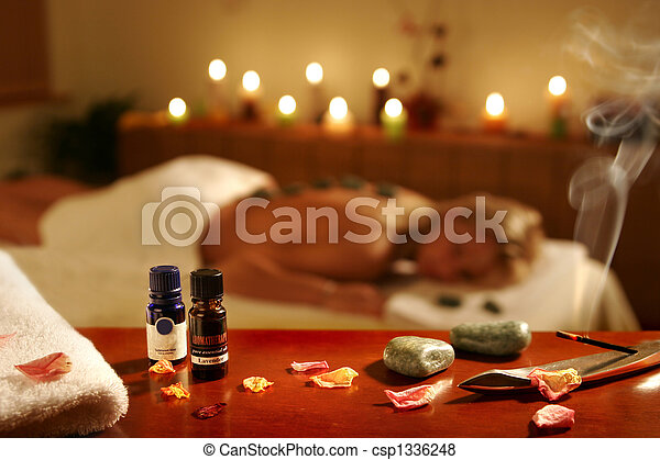 Romantic spa procedure in hotel - csp1336248