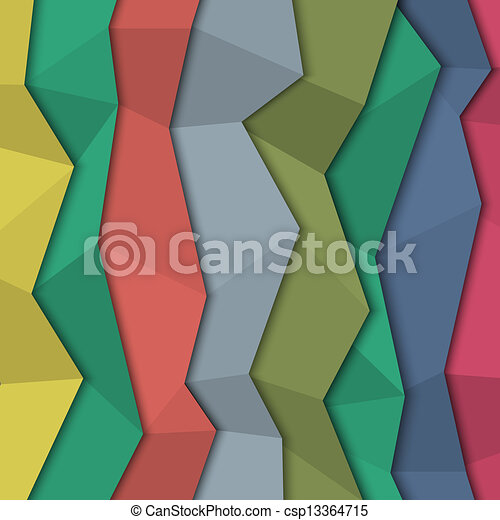 Vector Clip Art of 3d colored paper background - origami ...