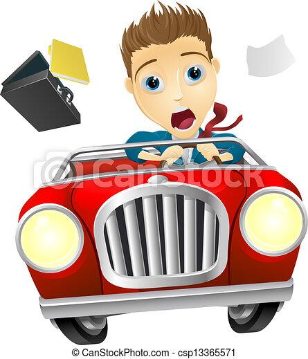 Driving Car Artwork