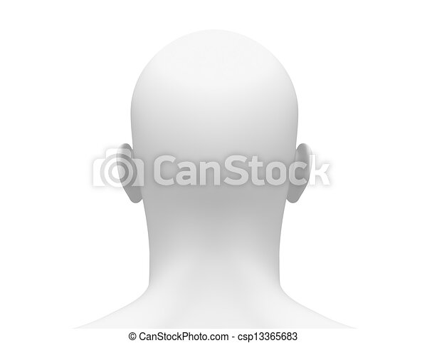 Back Head Drawing Head Back View Csp13365683