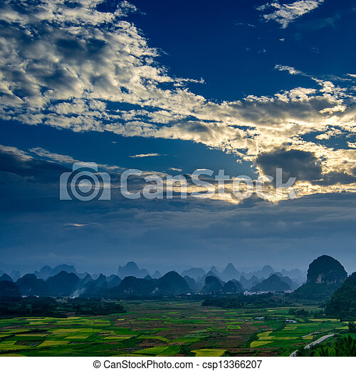 Rural scenery in Guilin - csp13366207