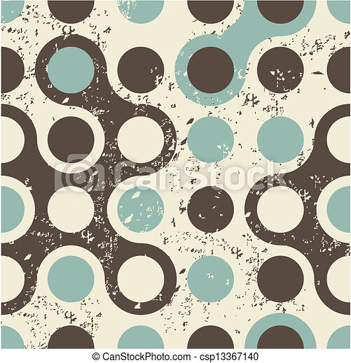 retro geometric seamless pattern - csp13367140