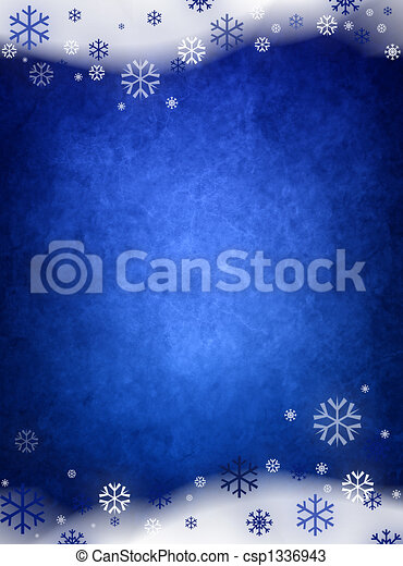 Ice blue christmas background - csp1336943