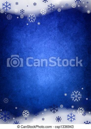 Ice blue christmas background - csp1336943