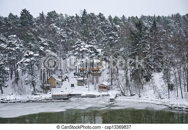 Finland - Nature in winter - csp13369837