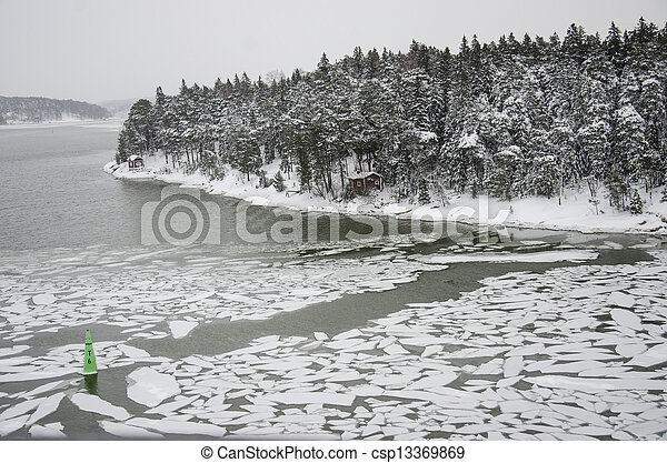 Finland - Nature in winter - csp13369869