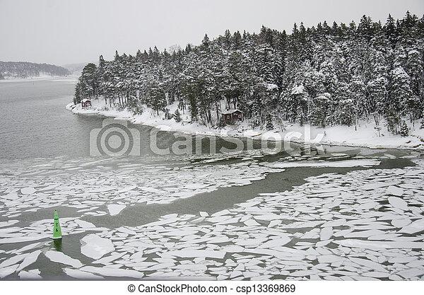 Finland - Nature in winter - csp13369869
