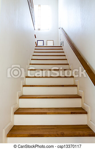... Interior   Wood Stairs And Handrail