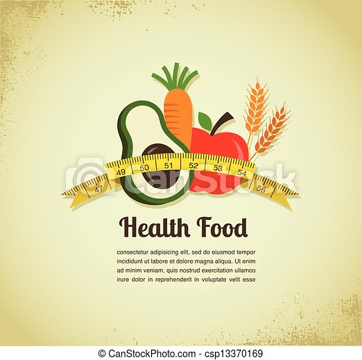 Health food vector background - csp13370169