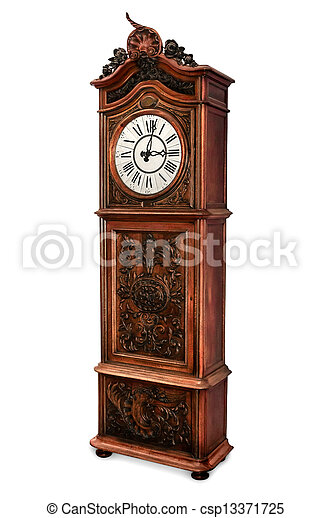 Old Grandfather Clock - csp13371725