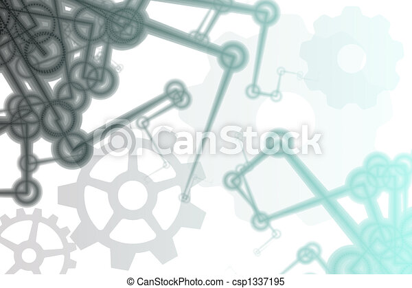 Futuristic Factory Robot Arms Abstract - csp1337195