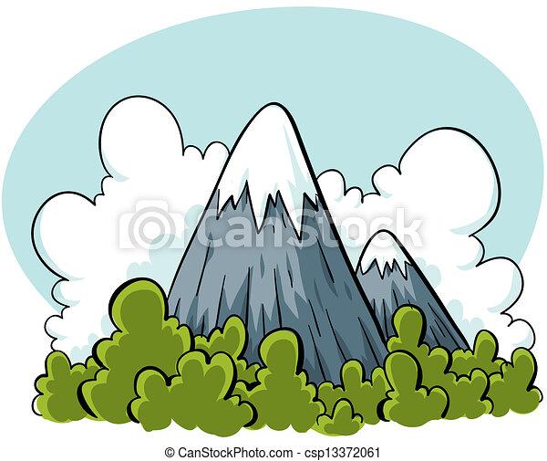 stock illustration of cartoon mountains cartoon mountain range clip art black and white Mountain Outline Clip Art