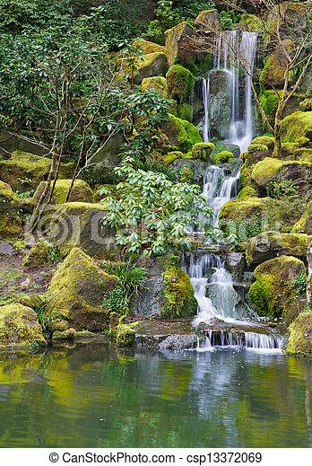 Long Garden Waterfall - csp13372069