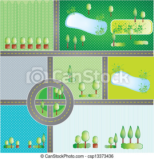 Earth, planet and nature icons - csp13373436