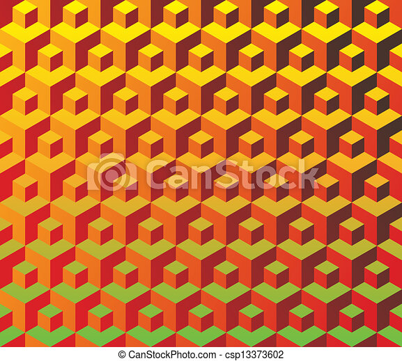 Seamless cubes pattern - illustration - csp13373602