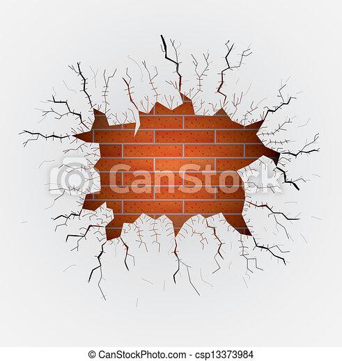 Stock de ilustraciones de grande agujero yeso pared - Agujero en la pared ...