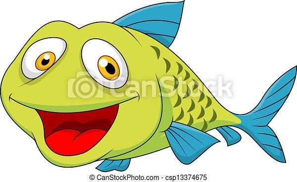 Dibujos de peces en caricatura - Imagui