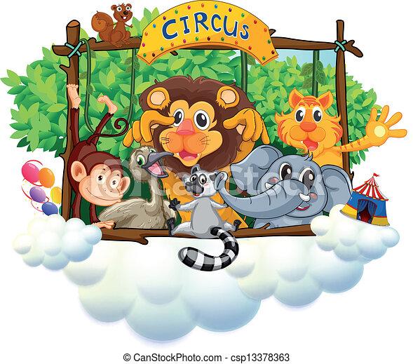 Different animals at the circus - csp13378363