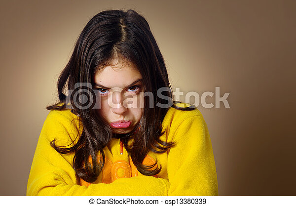 Stubborn Girl - csp13380339