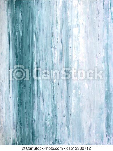 Teal and White Abstract Art - csp13380712