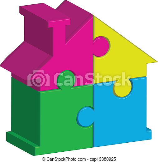 house from puzzles - csp13380925