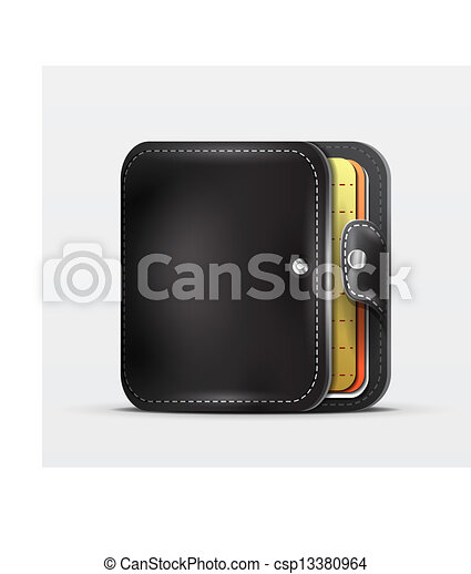 Clip Art Vector of Wallet | organizer mobile app icon ...