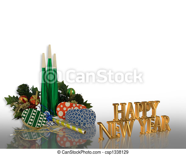 New Years eve party Invitation - csp1338129