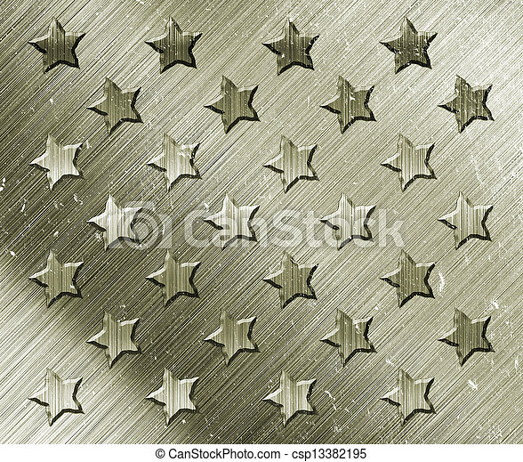 Military Grunge With Stars - csp13382195