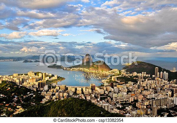 Aerial Rio de Janeiro - csp13382354