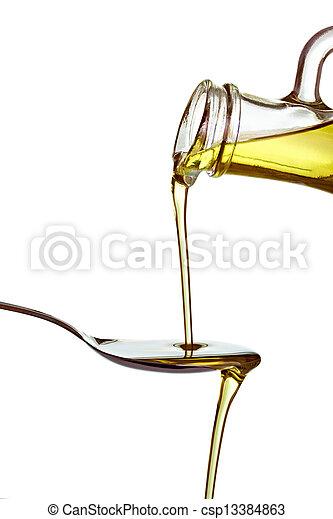olive oil condiment vegeterian food - csp13384863
