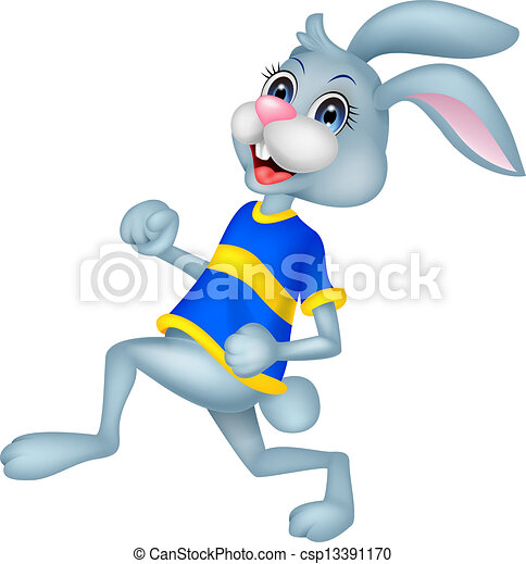 Running Rabbit Cartoon Rabbit Cartoon Running