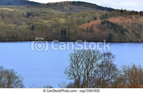 Blue lake - csp13391630