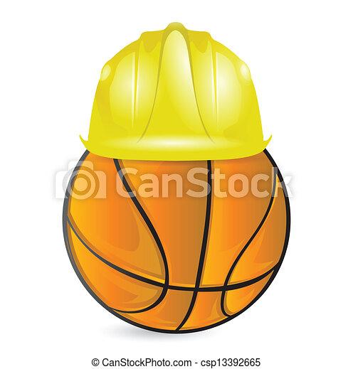 basket training. under construction - csp13392665