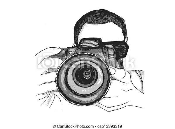 Vector Clip Art of Photographer Taking a Picture - A ...  Vector Clip Art...