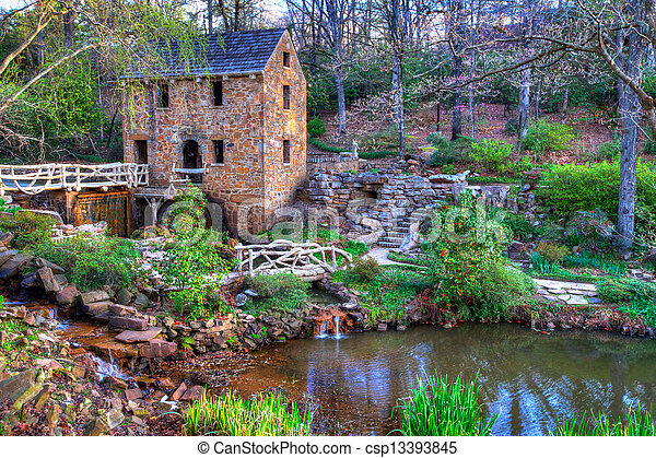 Old Mill, in Winter - csp13393845