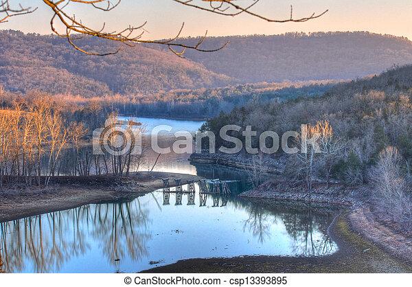 Rural River Valley - csp13393895