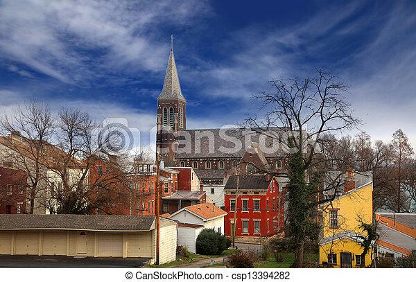 histórico,  Cincinnati, distrito - csp13394282