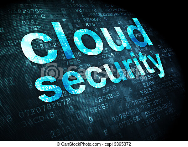 Networking concept: Cloud Security on digital background - csp13395372