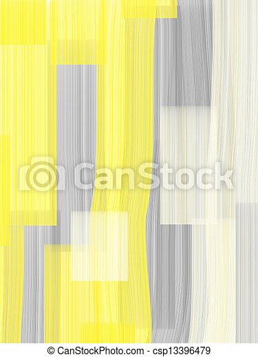 Grey and Yellow Abstract Art - csp13396479