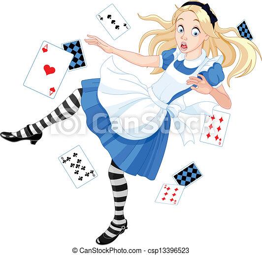 Falling Alice - csp13396523