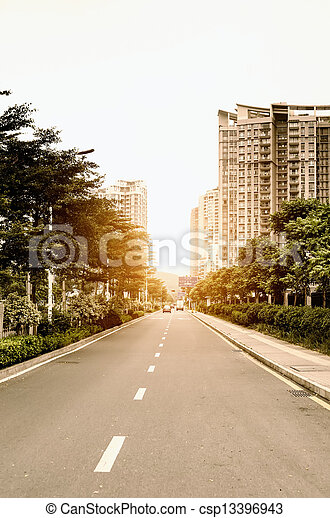 buildings and roads