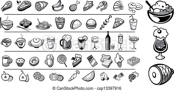 food icons vector collection - csp13397916