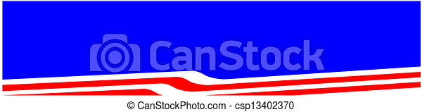 USA Red White Blue Banner Flags - csp13402370