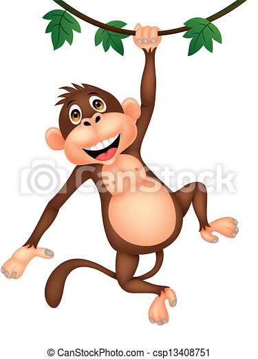 Clipart Monkey Hanging