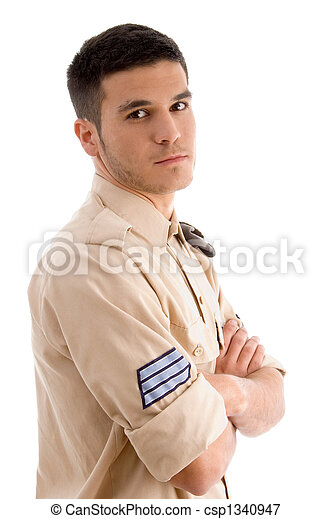 portrait of military male - csp1340947